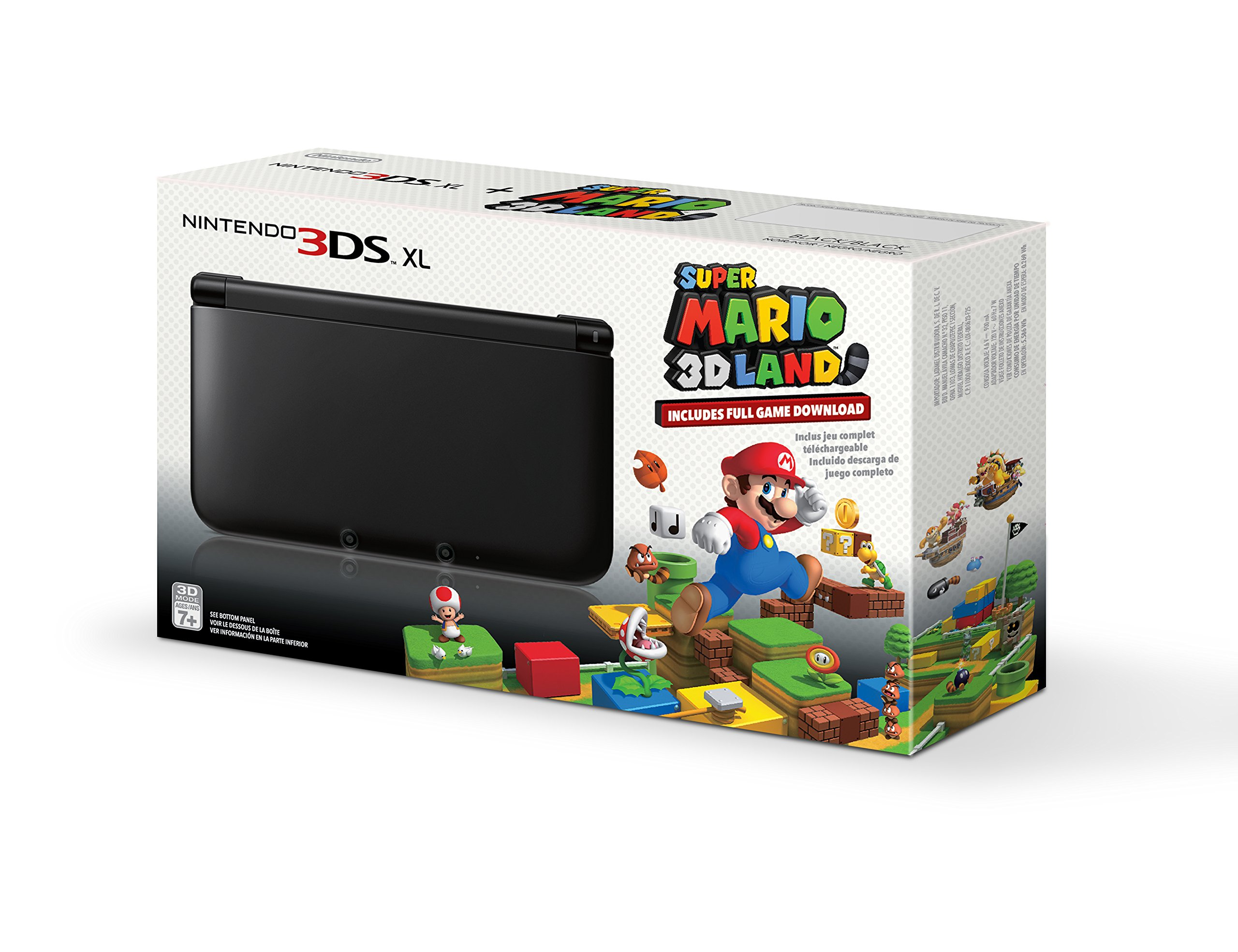 Black Nintendo 3ds Xl With Pre Installed Super Mario 3d Land Game