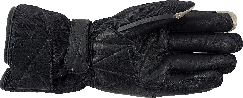 Black, Small Pilot Motosport Mens Obsidian Winter Motorcycle Gloves 4000601-01