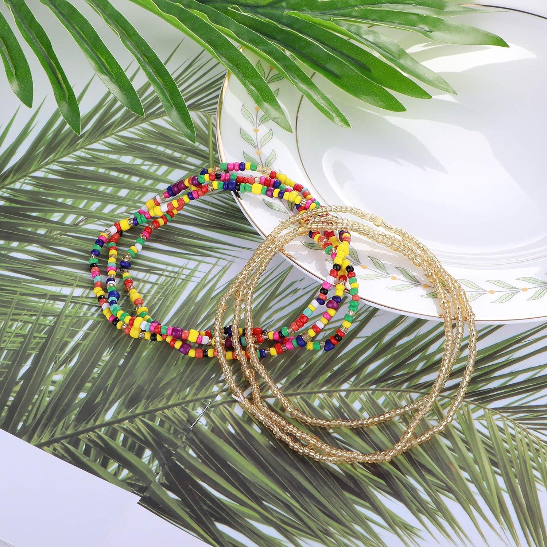 ORAZIO Waist Beads for Women Belly Beads African Waist Belly Body Chain Summer Beach Bikini Jewelry