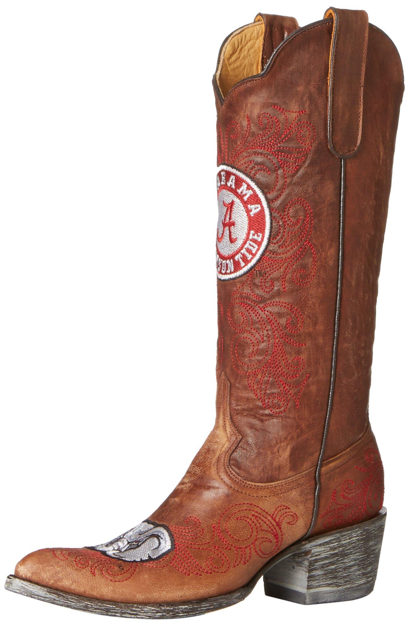 NCAA Alabama Crimson Tide Women's 13-Inch Gameday Boots, Brass, 7.5 B (M) US