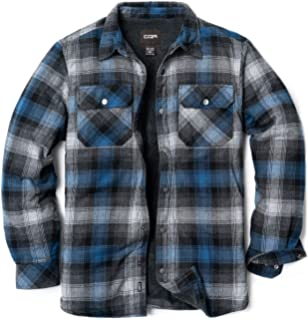 Mens Vintage Style Ex Wrangler Flannel Red Checked Long Sleeve Sherpa Shirt