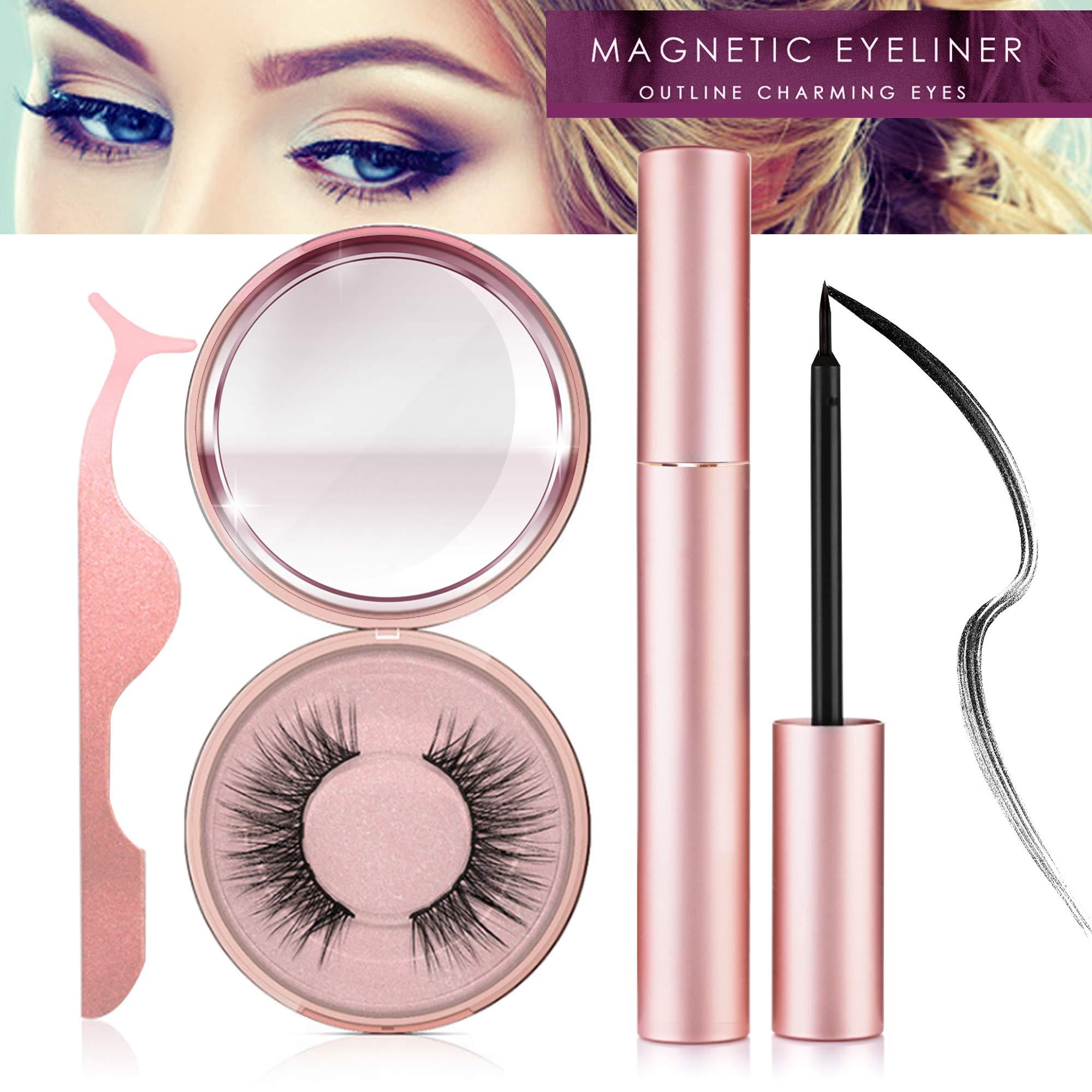Magnetic Eyeliner Kit, Magnetic Eyeliner With Magnetic Eyelashes, Magnetic Lashliner For Use with Magnetic False Lashes (ET)
