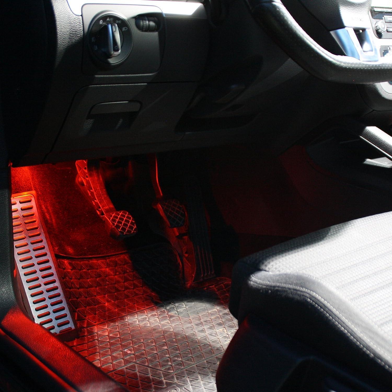 wei/ß SMD Modul Fu/ßraum Set 4 2X LED Module Fu/ßraumbeleuchtung