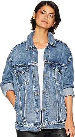 69ef01b51e9f7d Levi's Women's Baggy Distressed Trucker Jacket at Amazon Women's Coats Shop