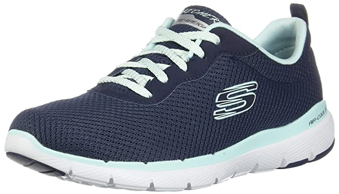 Skechers Flex Appeal 3.0 Sneakers Damen Blau (Navy Aqua)