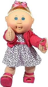 "Cabbage Patch Kids 14"" Kids - Blonde Hair/Blue Eye Girl Doll in Trendy Fashion, Multi, (Model: 99401US01)"