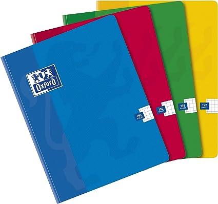 Oxford School - Pack de 5 libretas cosidas de tapa dura, A4: Amazon.es: Oficina y papelería