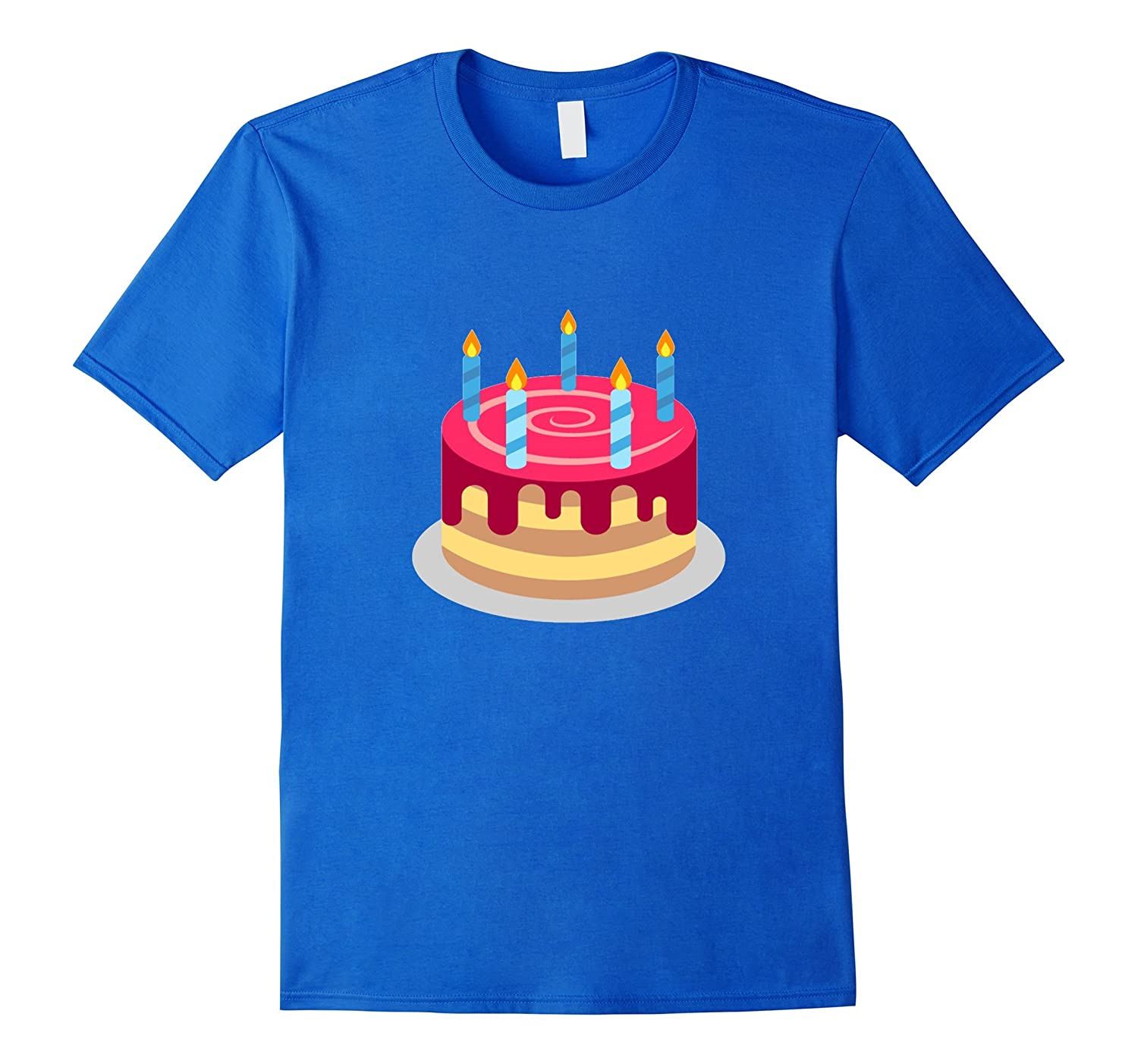 Birthday Cake Emoji T Shirt Candles Frosting Party Cut Slice Gm