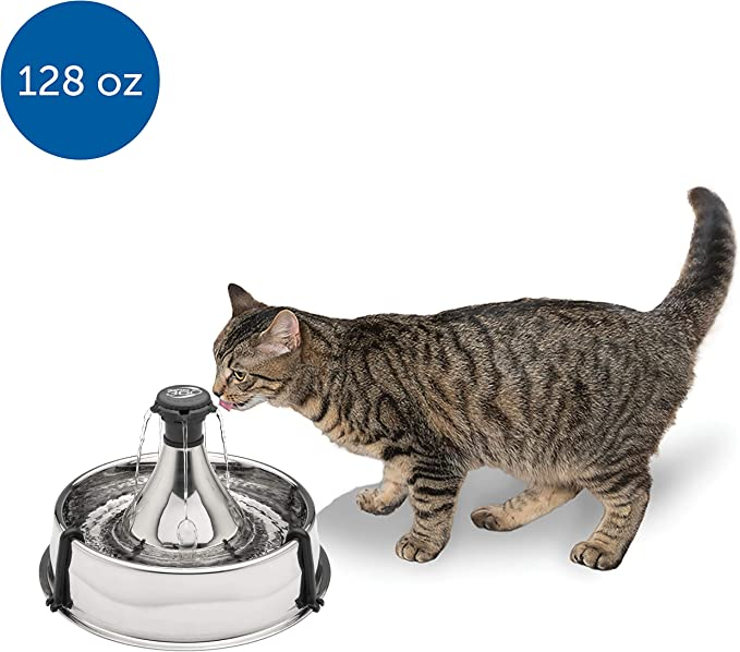 3. Drinkwell 360 Stainless Steel Pet Fountain
