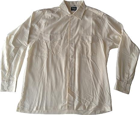 Camisa para Hombre Tallas Especiales en Safari Look con Dos Bolsillos en el Pecho y cómodo, con Aberturas Laterales, sommerlich Ligera Material, Color Crudo, tamaño 3 x l (47/48) Crudo XXX-Large: Amazon.es: