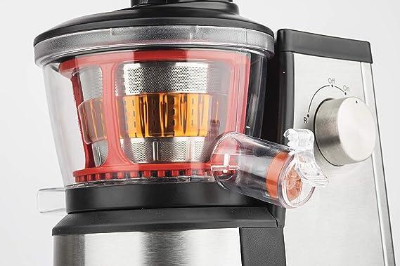 H.Koenig GSX 12 Licuadora para Frutas y Verduras de Prensado en Frío, Extractor de Jugos, 1 Litro, 60 RPM, 400 W, Libre de BPA, Acero Inoxidable, Gris GSX12: Amazon.es: Hogar