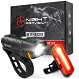BX-300 USB Rechargeable LED Bike Light Set Front