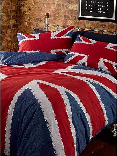 Copriletto Singolo Bandiera Inglese.Catherine Lansfield Copripiumino Reversibile 1 Piazza E Mezza Blu London Bandiera Inglese Amazon It Casa E Cucina