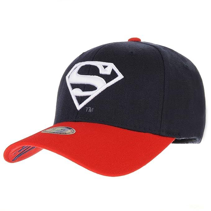 WITHMOONS Gorras de béisbol Gorra de Trucker Sombrero de Superman Shield Embroidery Cotton Baseball Cap AC3260