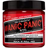 Manic Panic Rock N Roll Hair Dye – Classic High Voltage - Semi Permanent Hair Color - Warm, Vibrant Red Shade - Vegan…
