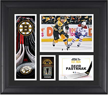 David Pastrnak Boston Bruins Framed 15 quot  x 17 quot  Player Collage with  a Piece of 5a6bd573b