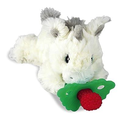 RaZbaby RaZbuddy RaZberry Teether/Pacifier Holder w/Removable Baby Teether Toy - 0M+ - Bpa Free - Unicorn : Baby