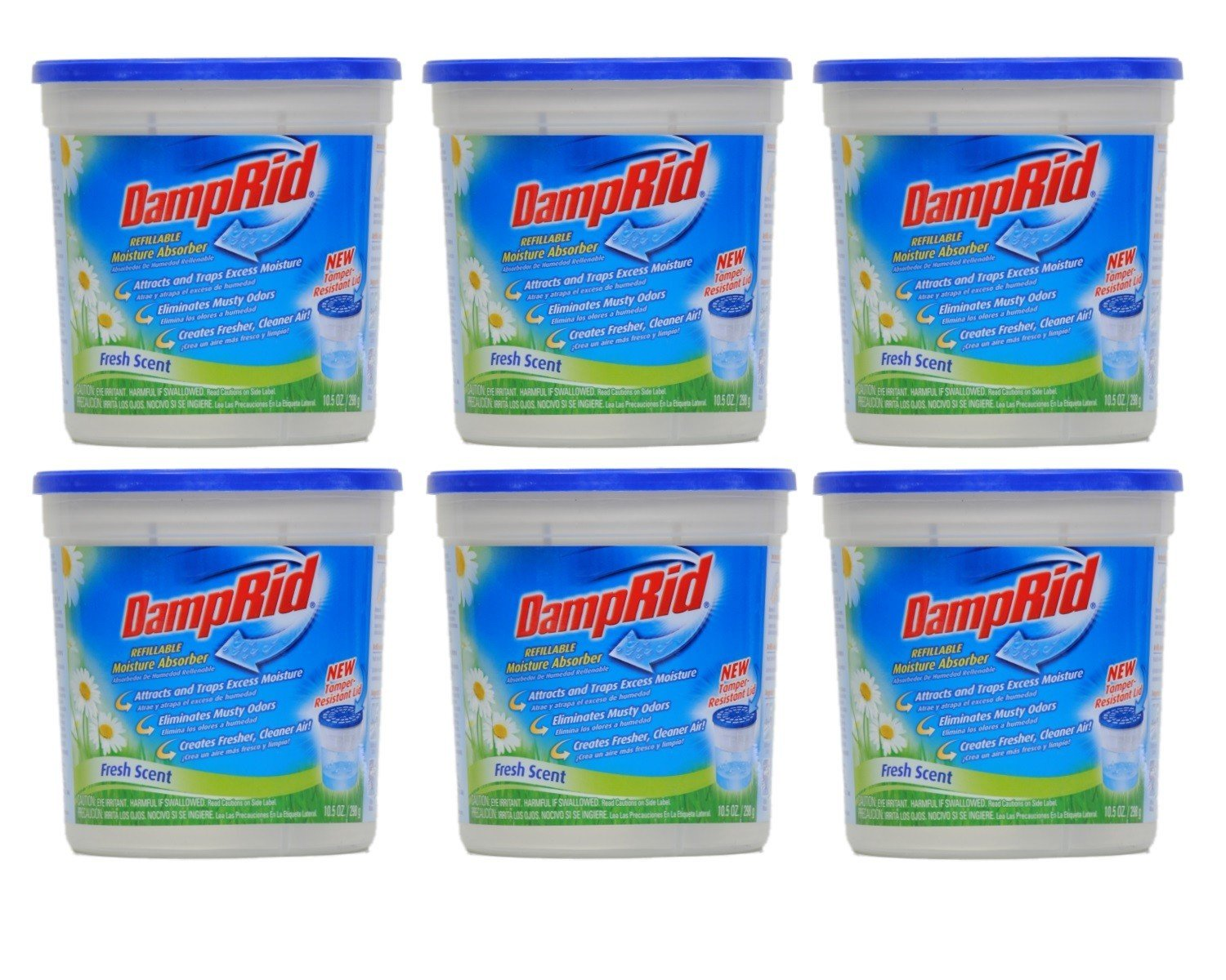 DampRid Damprid moisture absorber fresh scent, 10.5 Ounce, Pack of 6 by DampRid