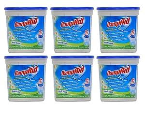Damprid Moisture Absorber Fresh Scent, 10.5oz (Pack of 6), White,