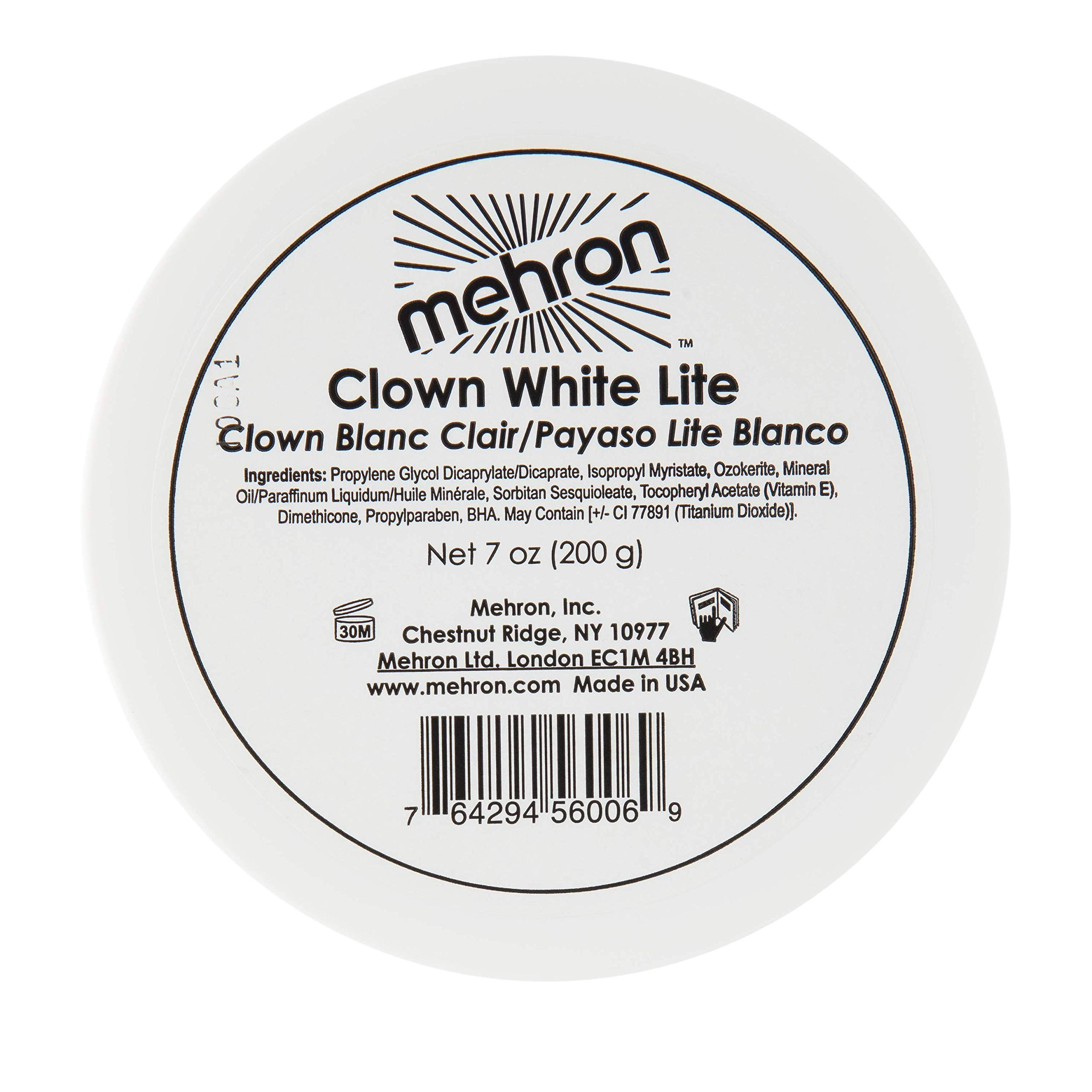 Mehron Makeup Clown White Lite Professional Makeup (7 oz) by Mehron