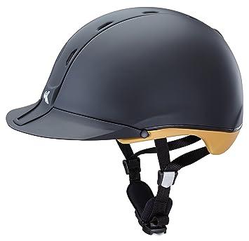 KED Tara – Casco de equitación Casco de adiestramiento y jinete Casco Black Matt Caramel,