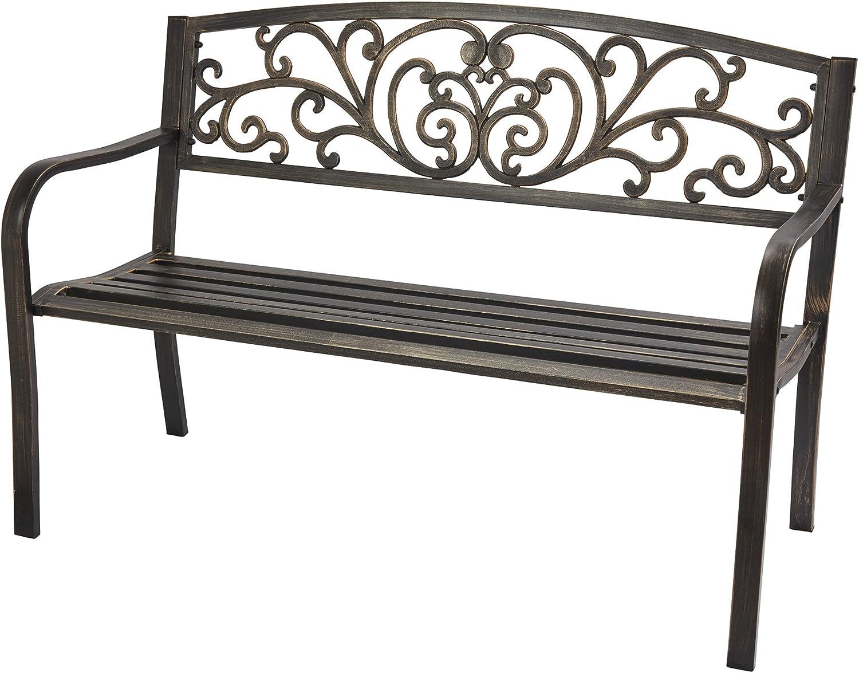 Garden Gear Garden Bench Outdoor Furniture Powder Coated Steel