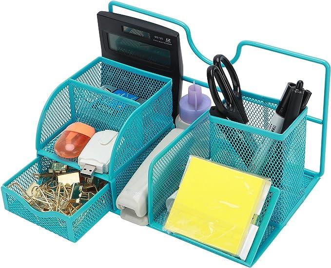 TOROTON Organizzatore Scrivania Nero Multifunzione Mesh da scrivania portapenne cancelleria contenitore di immagazzinaggio Box Collection