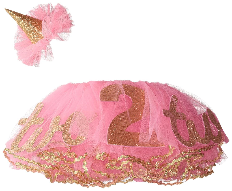 21f439a2ec1 Mud Pie Little Girls  Glitter Headband and Tutu Set for Second Birthday
