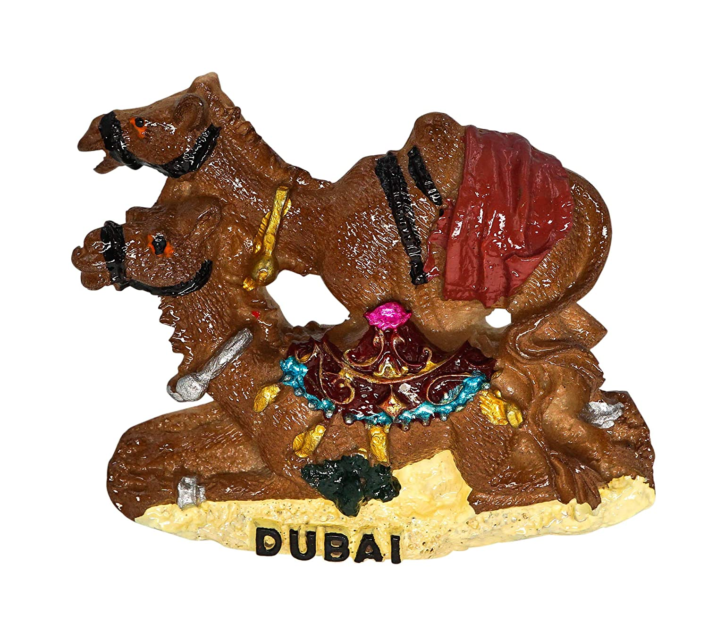 zamonji Desert Camel Dubai Magnete del Frigorifero 3D Resina Handmade Craft Tourist Travel Citt/à Souvenir Collection Lettera Frigorifero Sticker