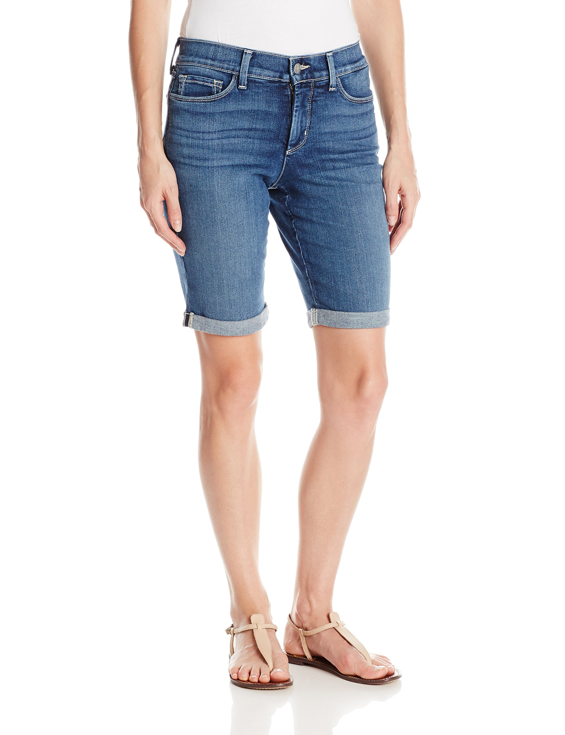 NYDJ Women's Petite Size Briella Roll Cuff Jean Short, Heyburn, 10 by NYDJ