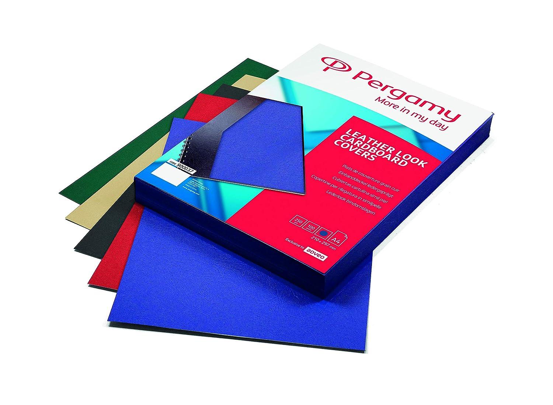 Pergamy 900041 - Pack de 100 portadas, A4, color marfil: Amazon.es: Oficina y papelería