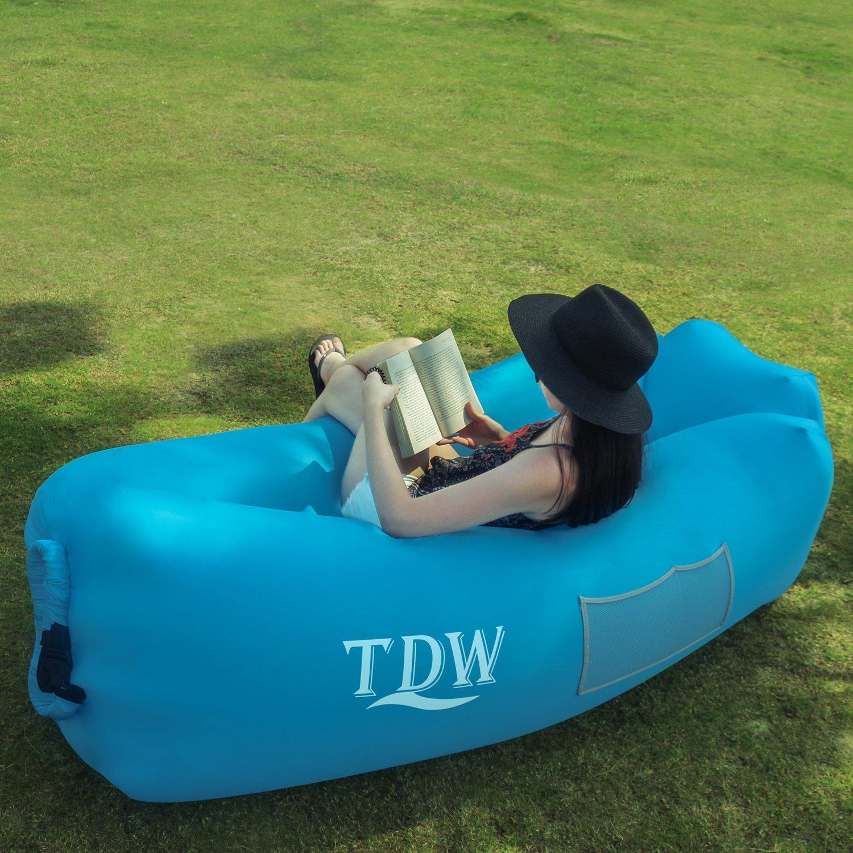 Luftsofa Air Aufblasbares Aufblasbarer Sitzsack TDW Aufblasbares Sofa Outdoor Aufblasbare Liege Air Lounger super geeignet f/ür Indoor im Freien beim campen oder bei Picknicks