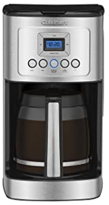 Cuisinart DCC-3200 14-Cup Glass Carafe with Stainless Steel Handle Programmable Coffeemaker, Silver