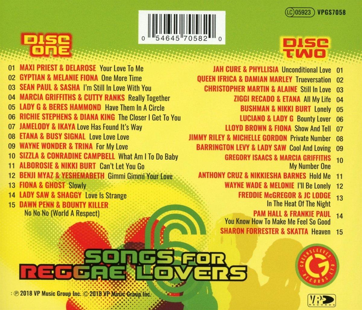 Songs For Reggae Lovers Vol  6