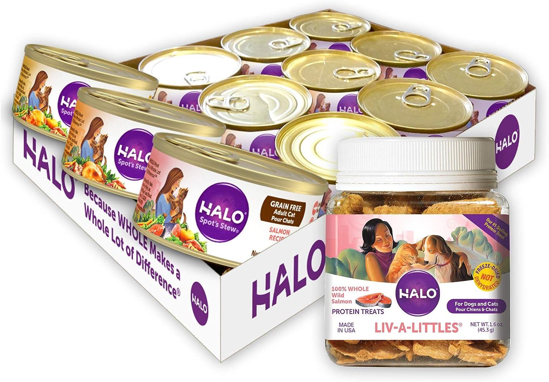 Halo Liv-A-Littles Grain Free Natural Dog Treats & Cat Treats
