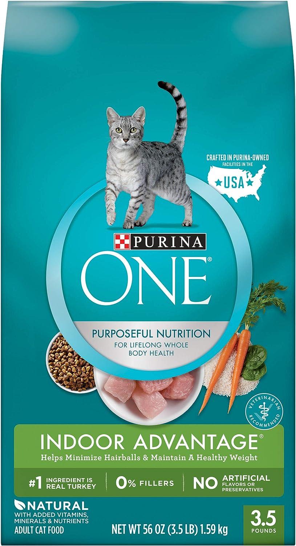 Purina ONE Dry Cat Food, Indoor Advantage, 3.5 Lb Bag