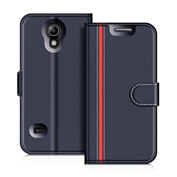 COODIO Funda Samsung Galaxy S4 Mini con Tapa, Funda Movil Samsung S4 Mini, Funda Libro Galaxy S4 Mini Carcasa Magnético Funda para Samsung Galaxy S4 ...