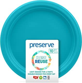 product image for Preserve Go Lightweight BPA Kitchen Supplies, Small Plates, Aqua