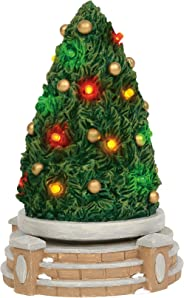 Department 56 Village Cross Product Accessories Festive Tree Rotating Lit Figurine, 7.25 Inch, Multicolor