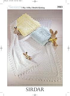 bda52e0e29ef Sirdar Snuggly 4PLY   3PLY Baby Shawl Blanket Knitting Pattern 3028 ...