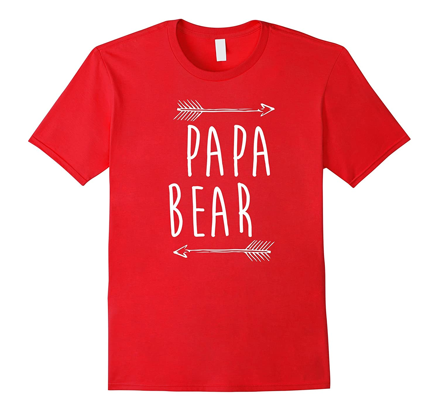 Papa Bear T-Shirt Family Portrait With Mama and Baby Bear-TH