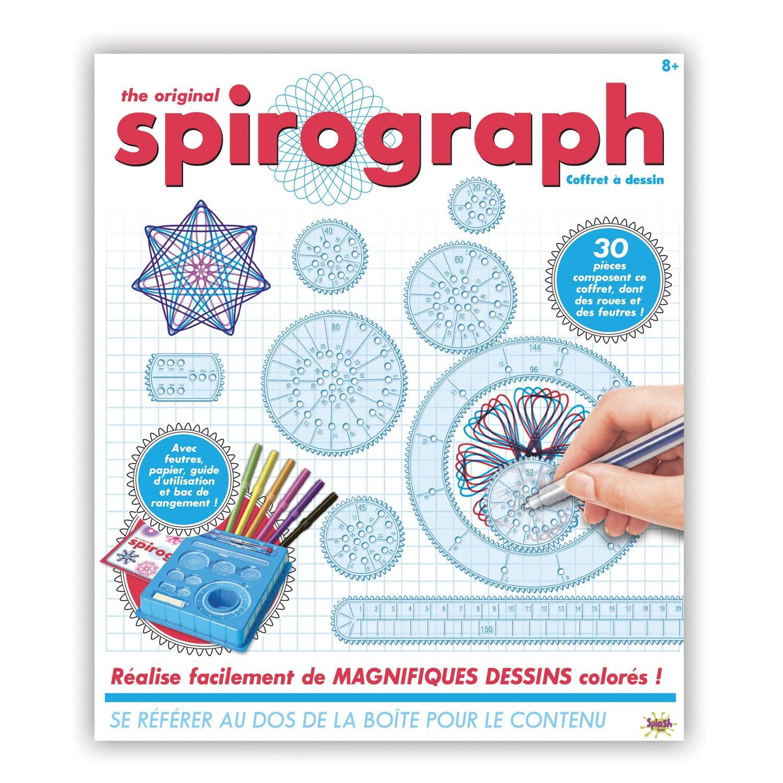 SPIROGRAPH - COFFRET A DESSIN - Outil de dessin avec pochoirs intégrés contient plus de 30 pièces SPLASH-TOYS 30381