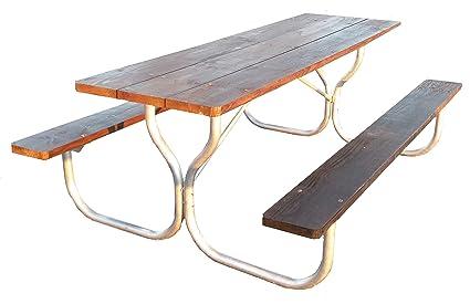 Amazoncom Aluminum Picnic Table Frame Commercial Grade Frame - Aluminum picnic table frame