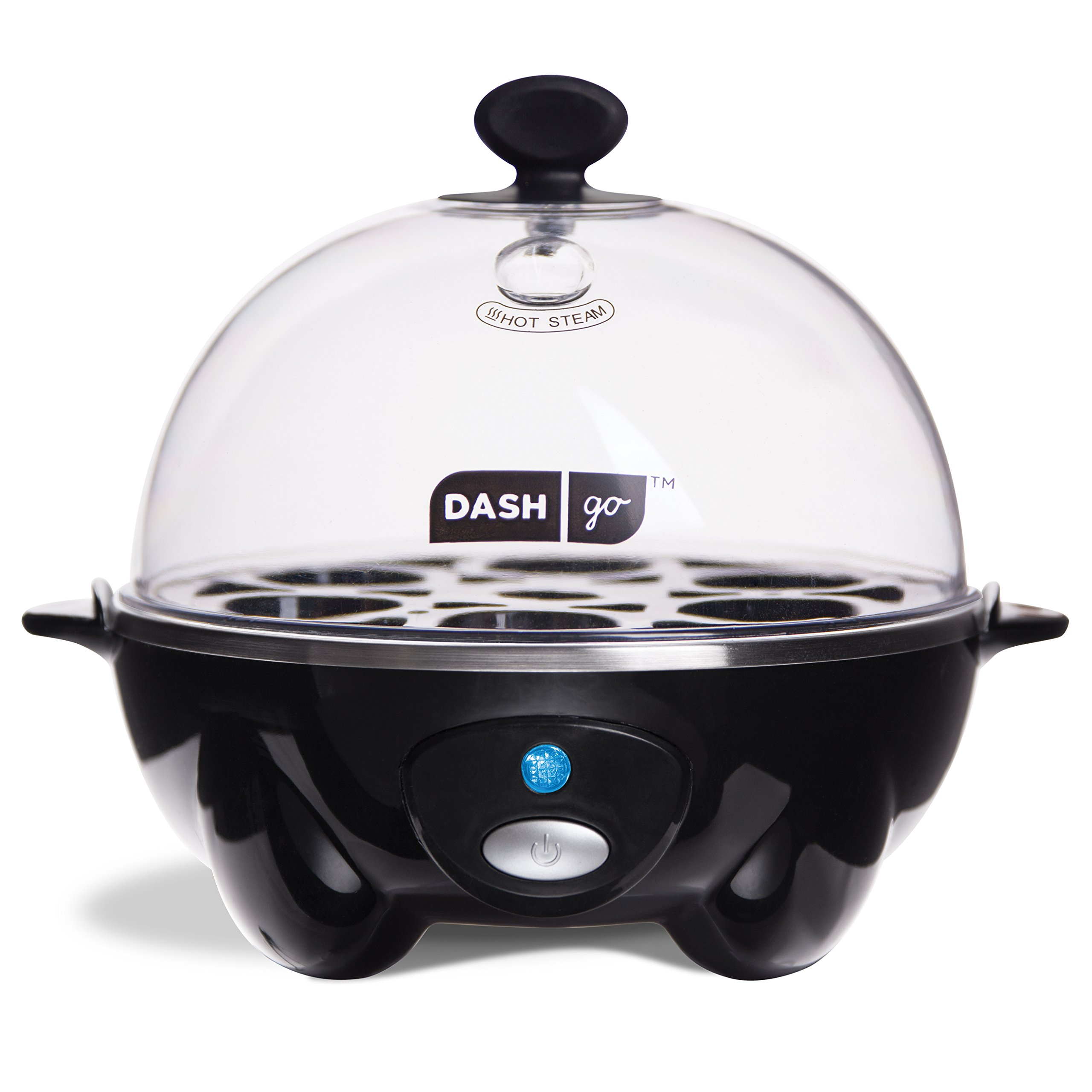 Dash Rapid Egg Cooker: 6 Egg Capacity Electric Egg Cooker for Hard Boiled Eggs, Poached Eggs, Scrambled Eggs, or Omelets with Auto Shut Off Feature - Black by Dash