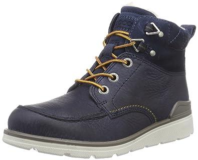 ECCO Jayden, Boys' Combat Boots, Blue (Navy/Marine), 3.5