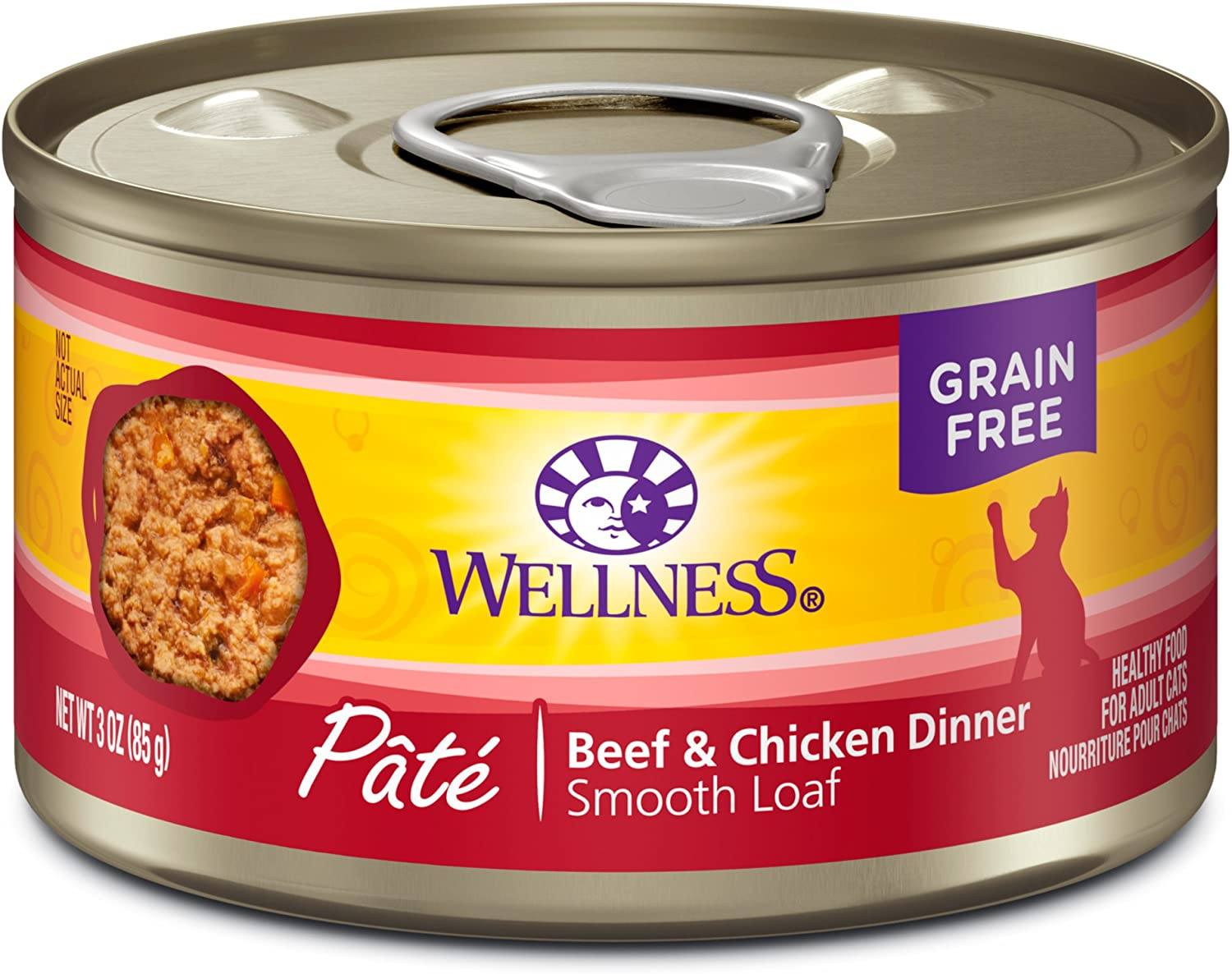 Wellness Complete Health Natural Grain Free Wet Canned Cat Food, Pate