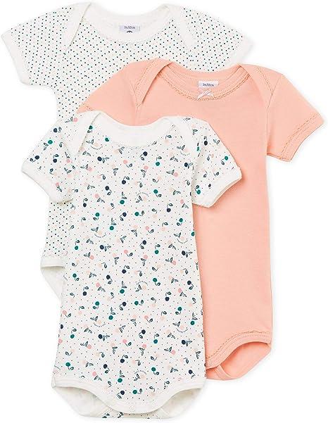 3er Pack Petit Bateau Baby-M/ädchen Formender Body
