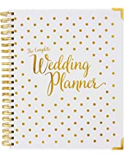 Wedding Planner Gold - Undated Bridal Planning Diary Organizer - Hard Cover, Pockets & Online Support
