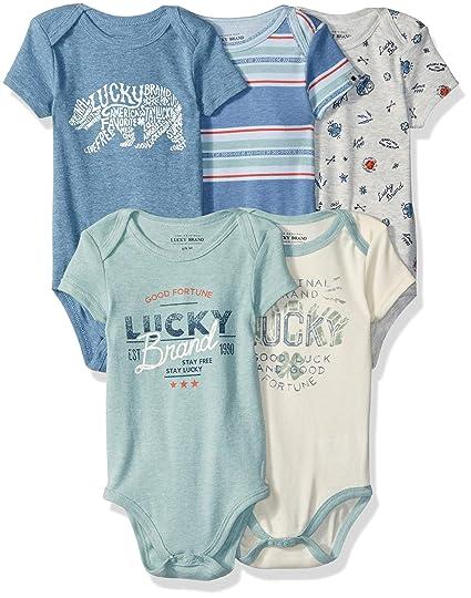 a2e08168f Amazon.com: Lucky Sets Baby Boys 5 Pack Bodysuit: Clothing
