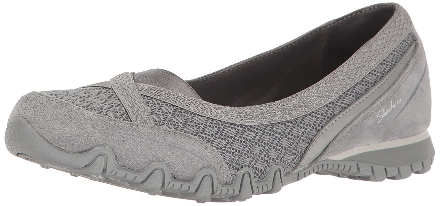 Skechers Women's Bikers Skimmer Flat B01MA58MQZ 6.5 B(M) US|Grey
